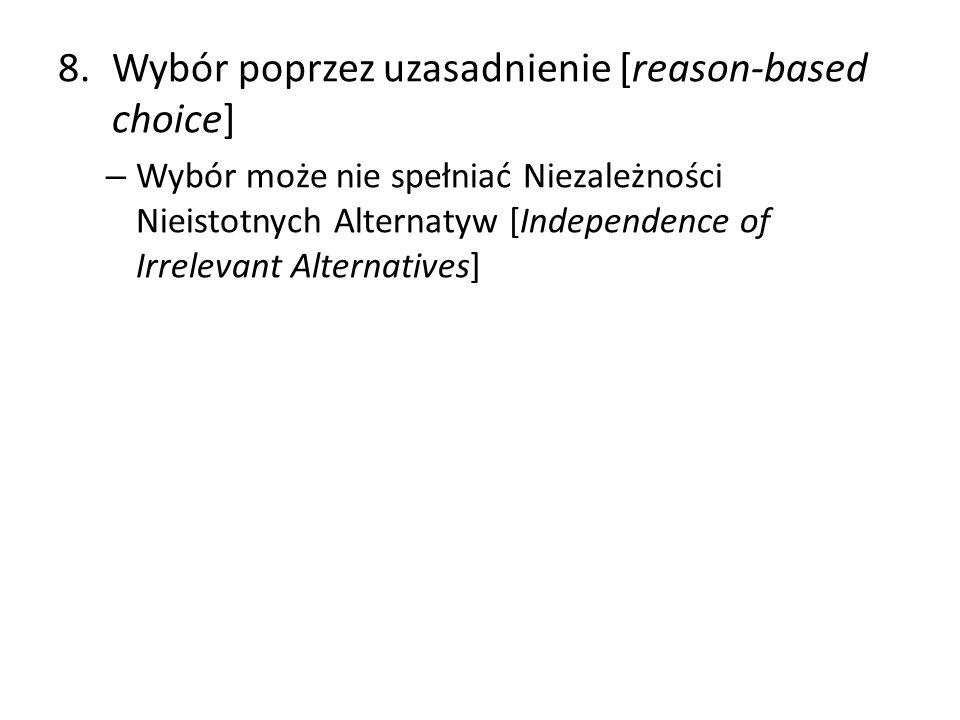 Wybór poprzez uzasadnienie [reason-based choice]